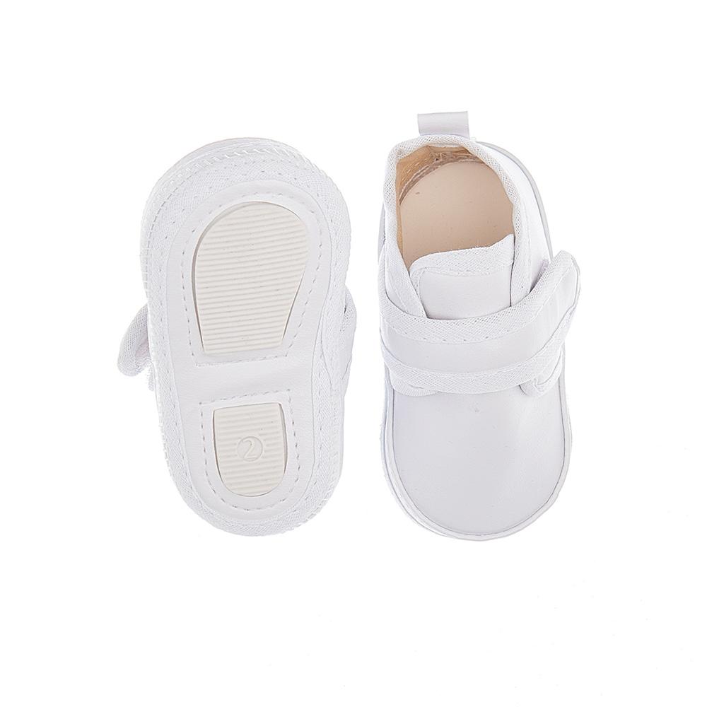 Tênis Bebê Com Velcro Branco  - Jeito Infantil