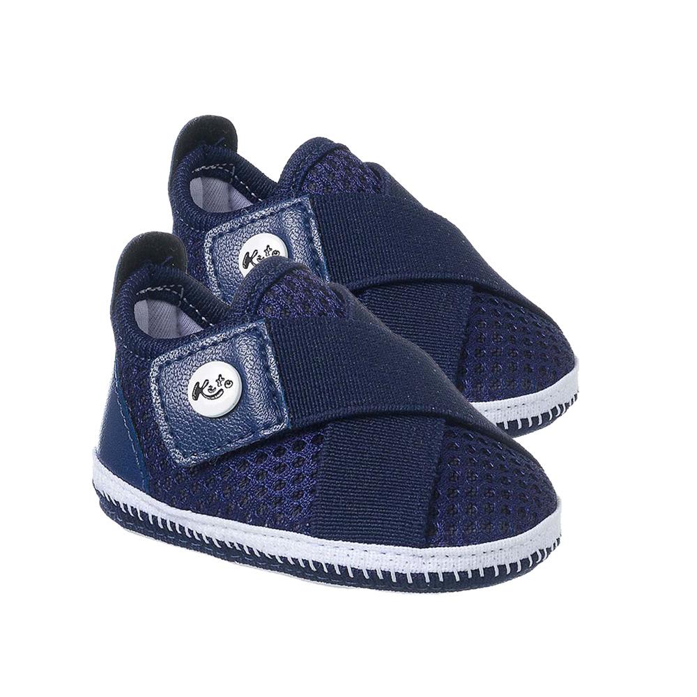 Tênis Bebê Com Velcro Marinho  - Jeito Infantil