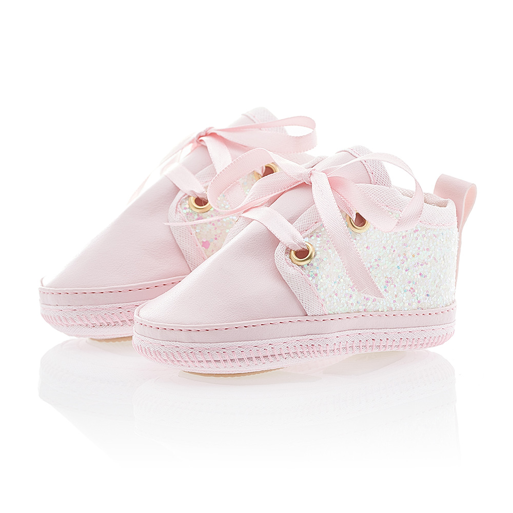 Tênis Bebê Glitter Rosa  - Jeito Infantil