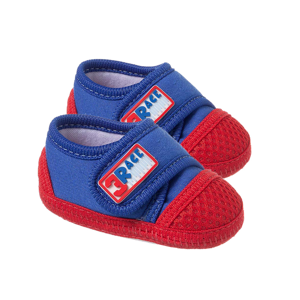Tênis Bebê Race Com Velcro Royal  - Jeito Infantil