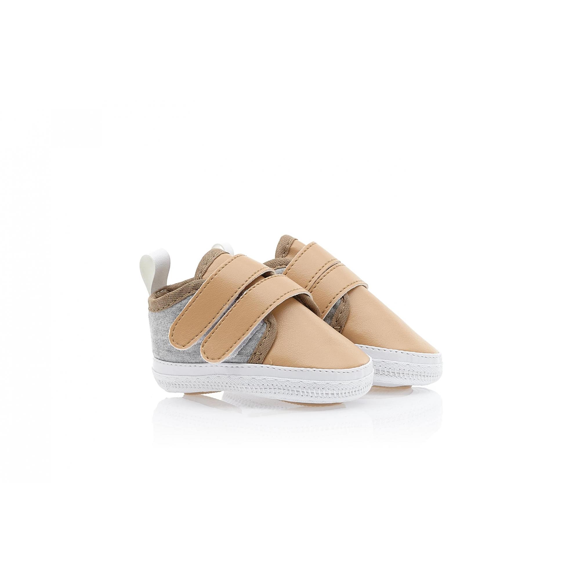 Tênis Bebê Velcro  Mescla  - Jeito Infantil