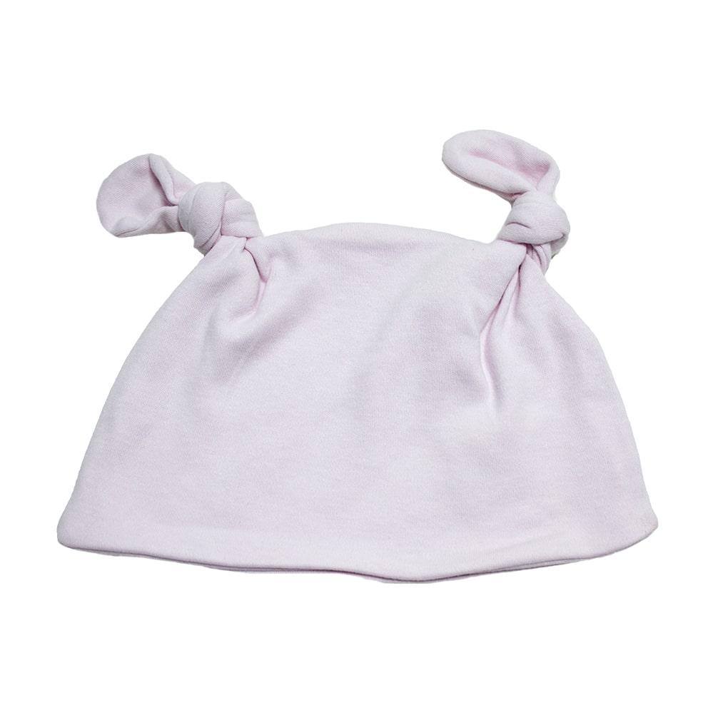 Touca Bebê Com Orelhinhas Rosa  - Jeito Infantil
