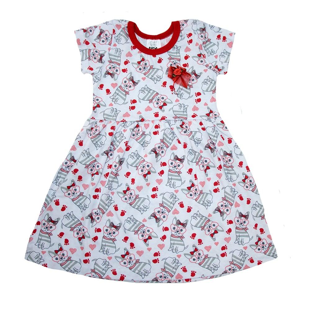 Vestido Bebê/Infantil Dog Branco  - Jeito Infantil