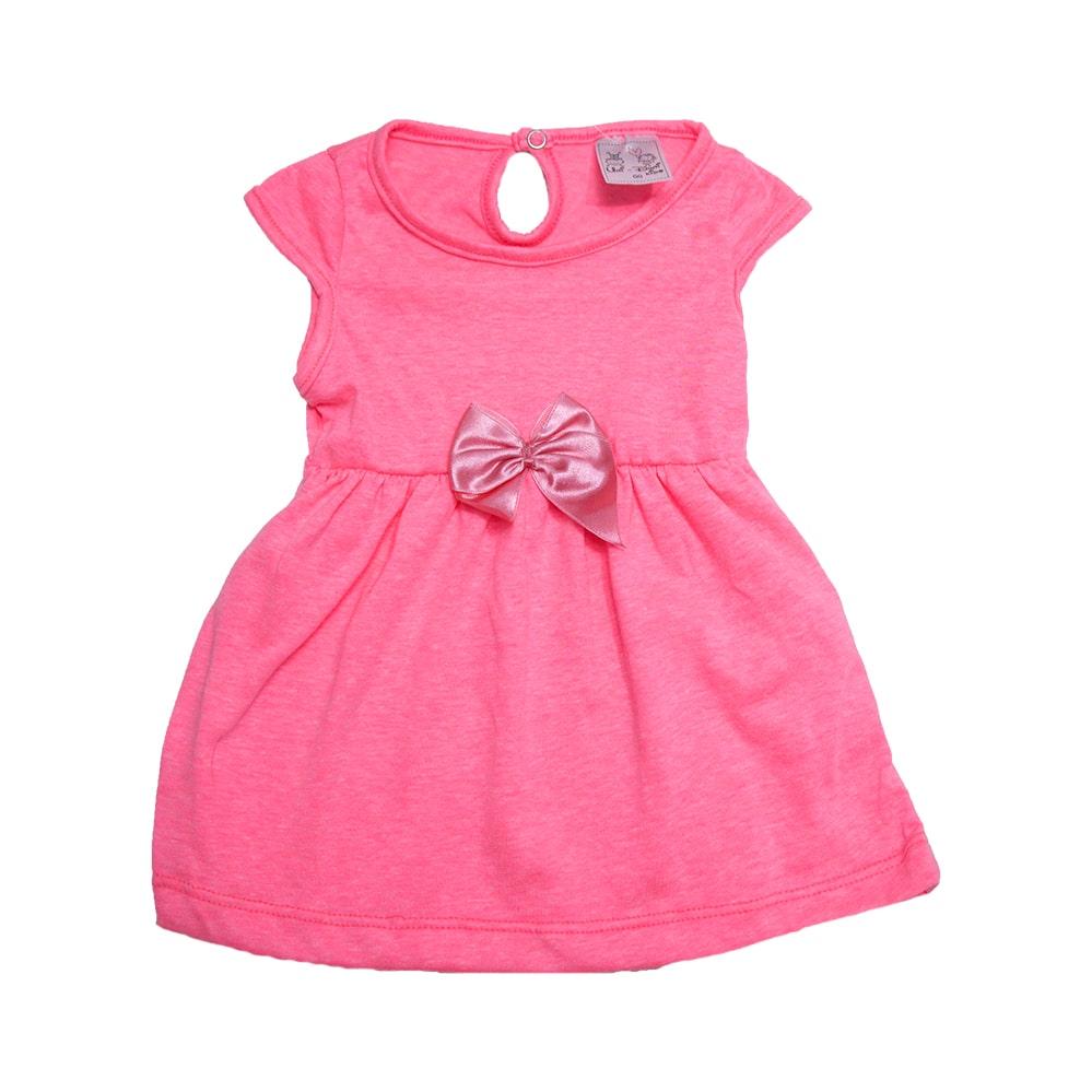 Vestido Bebê Neon Rosa  - Jeito Infantil