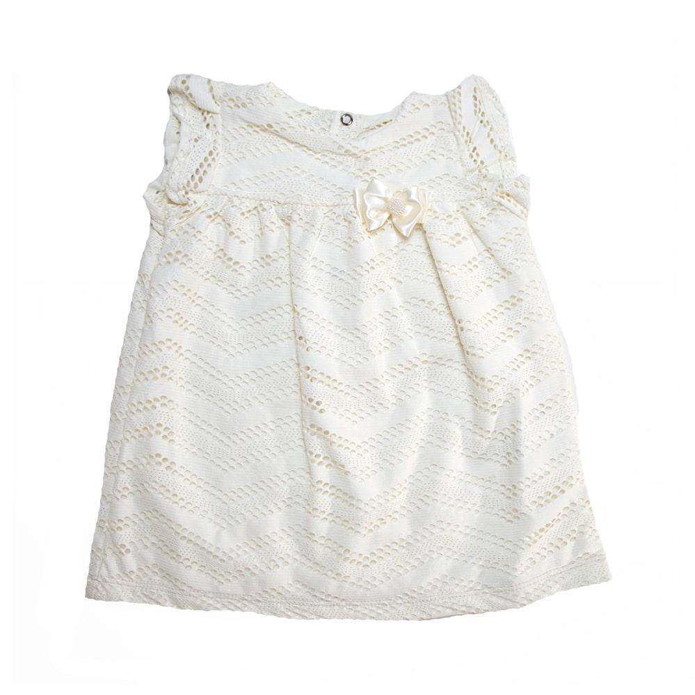 Vestido Bebê Renda Pérola  - Jeito Infantil