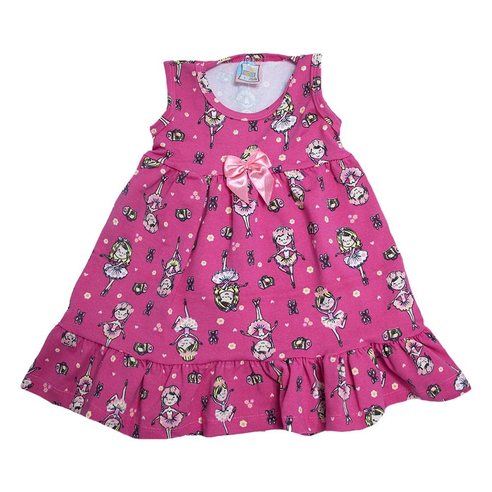 Vestido Infantil Bailarina Pink  - Jeito Infantil