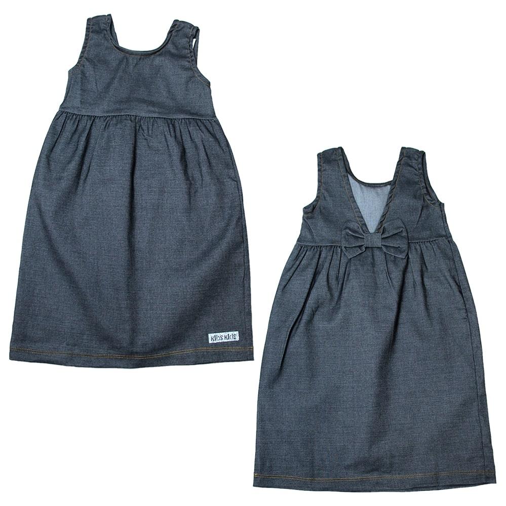Vestido Infantil Laço Costa Preto  - Jeito Infantil