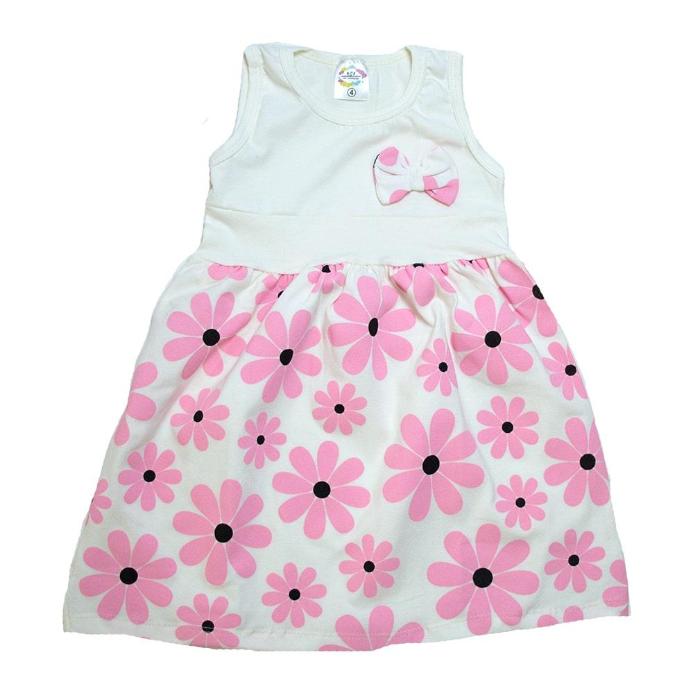 Vestido Infantil Margarida Pérola  - Jeito Infantil