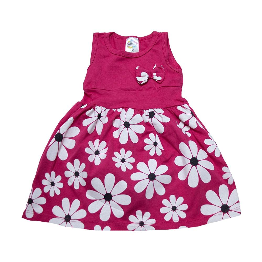 Vestido Infantil Margarida Pink  - Jeito Infantil