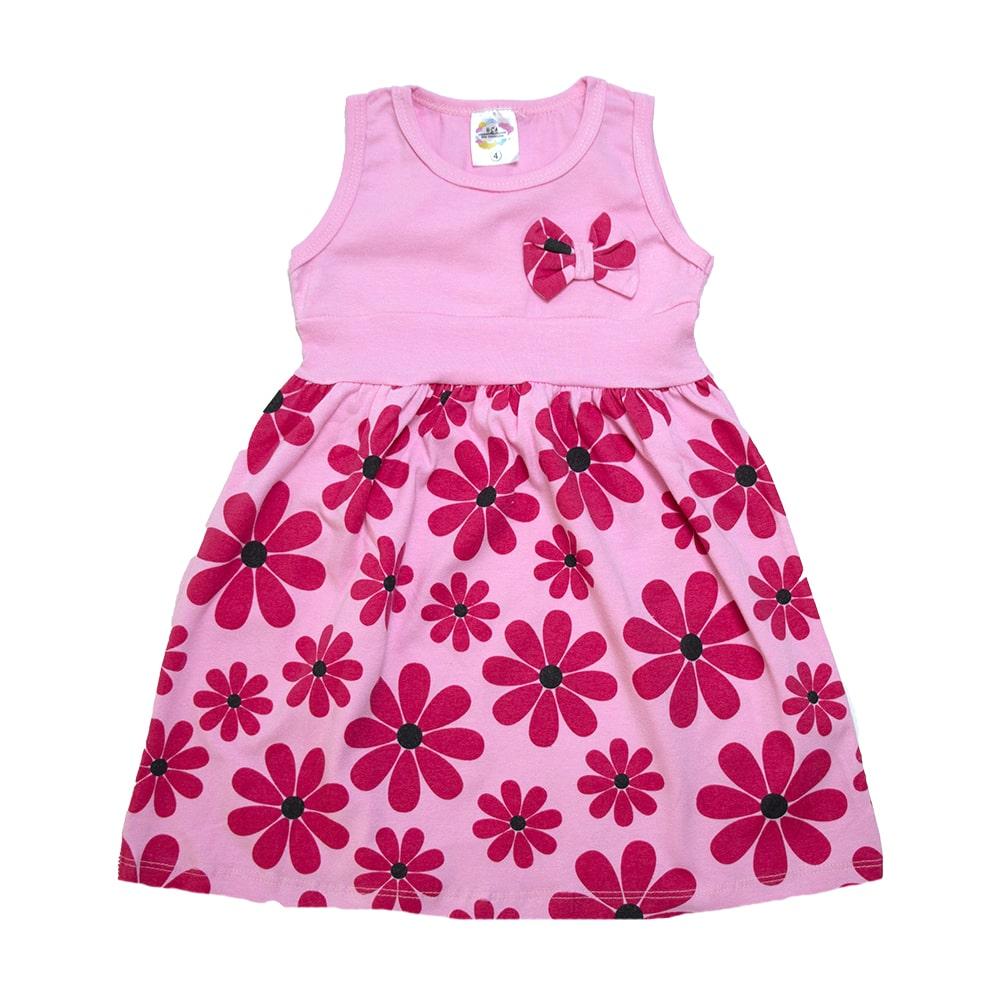Vestido Infantil Margarida Rosa  - Jeito Infantil