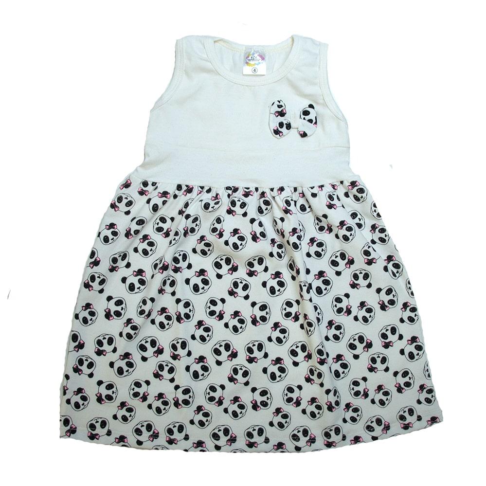 Vestido Infantil Panda Pérola  - Jeito Infantil