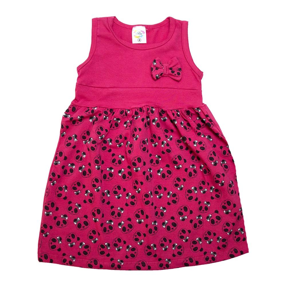 Vestido Infantil Panda Pink  - Jeito Infantil