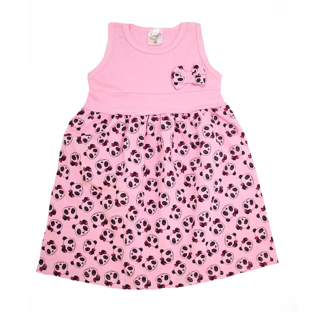 Vestido Infantil Panda Rosa  - Jeito Infantil