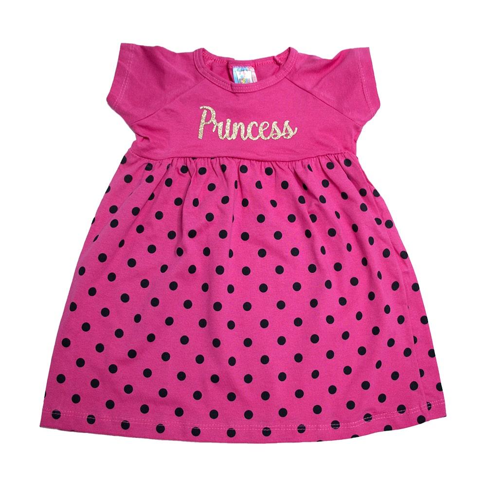 Vestido Infantil Princess Pink  - Jeito Infantil