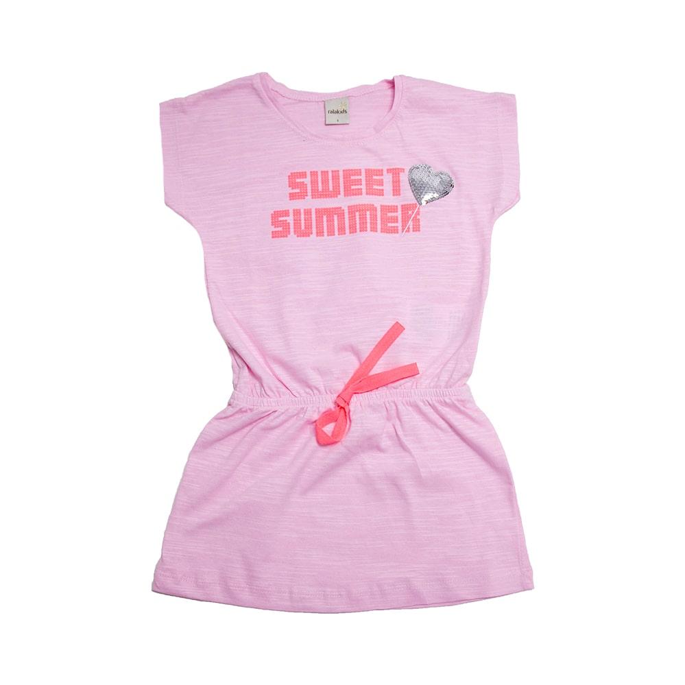Vestido Infantil Sweet Summer Rosa  - Jeito Infantil