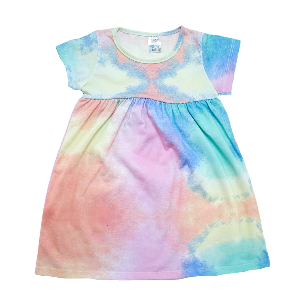 Vestido Infantil Tie Dye  - Jeito Infantil