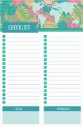 Bloco de Notas Mapa Hawaii Checklist