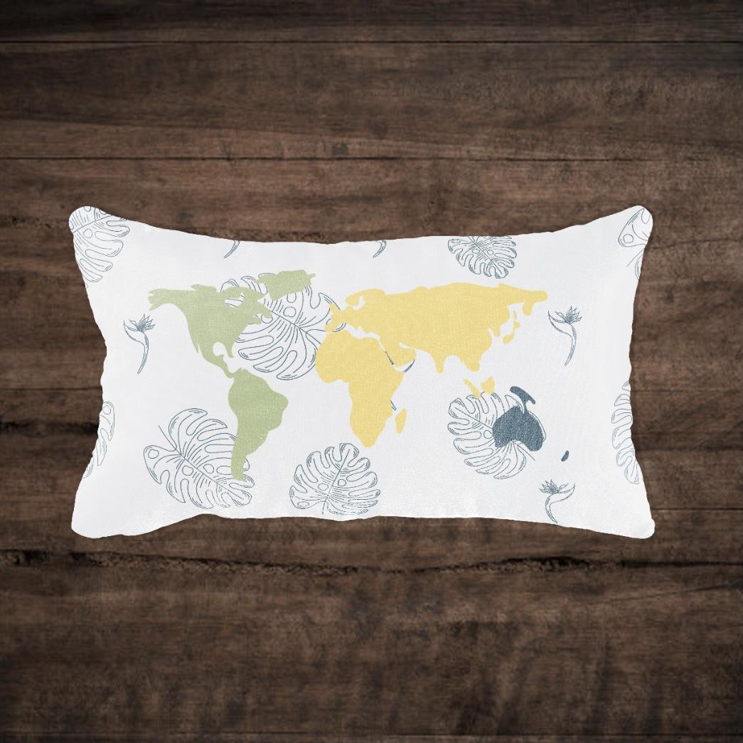 Capa de almofada Mapa Brasil Retangular