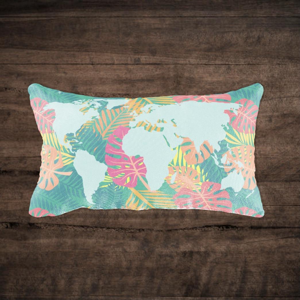 Capa de Almofada Mapa Hawaii Retangular