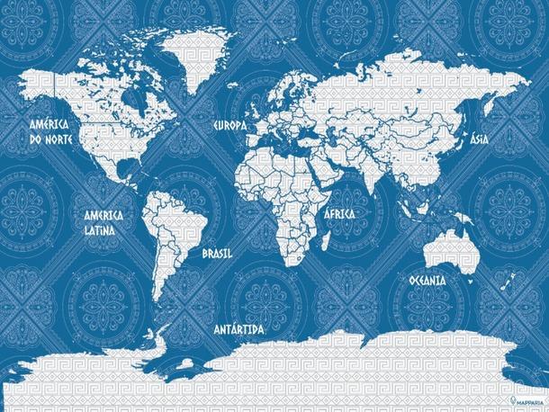 Jogo Americano Descartável Mapa Grécia 6 Unidades