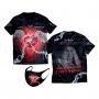 Coleção Coração Vencedor - Kit Camiseta Coração Vencedor Romântico e Máscara