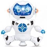 Boneco Robo Star Com Luz E Som