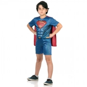 Fantasia Infantil Super Homem Curto Com Musculos