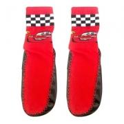 Meiufa Carros Mcqueen meia e pantufa Vermelha