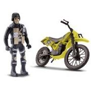 Moto Cross  com Boneco Samba Toys Comando Trail 361