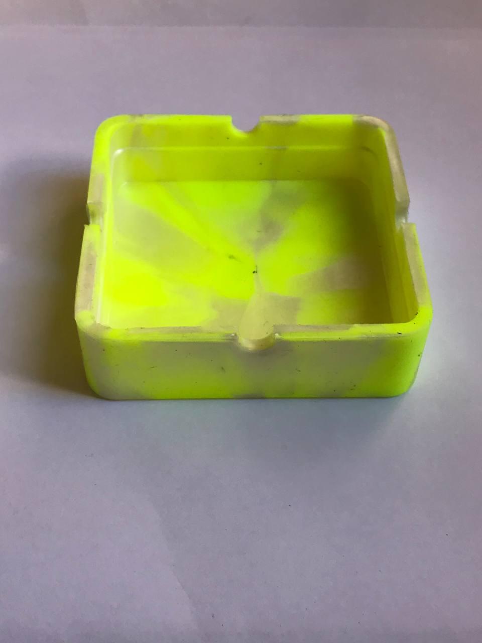 Cinzeiro silicone quadrado
