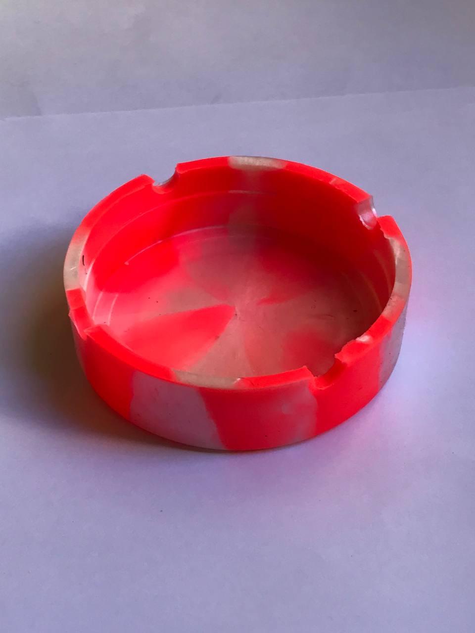 Cinzeiro silicone redondo