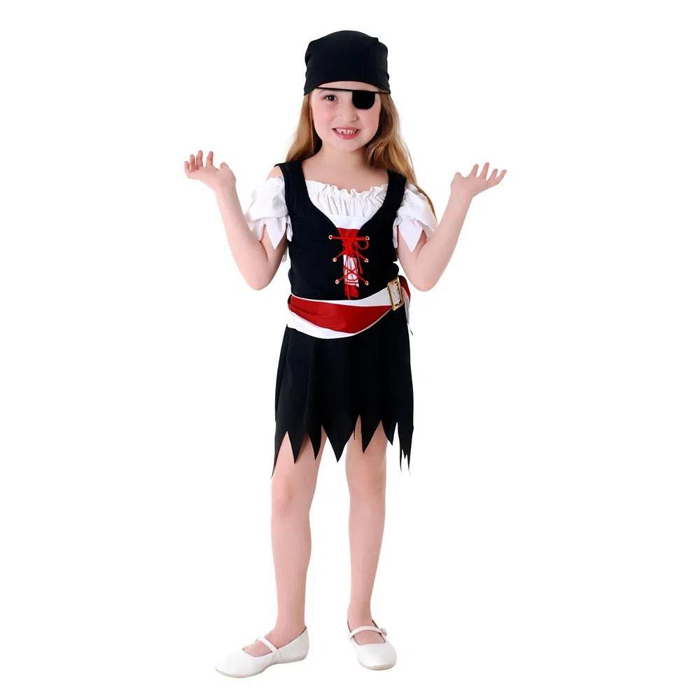 Fantasia Infantil Pirata Vestido
