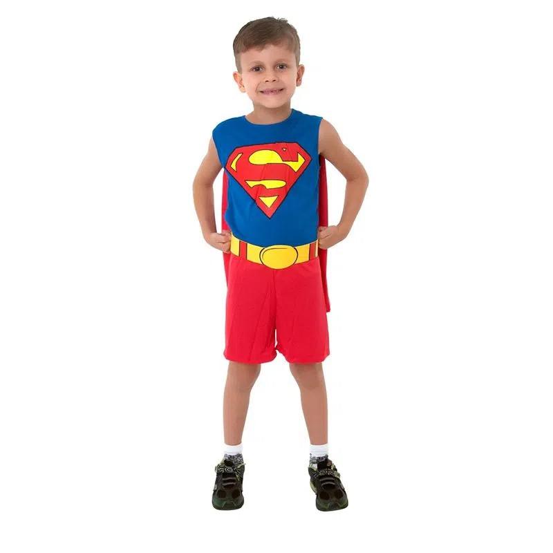 Fantasia Infantil Super Homem Regata