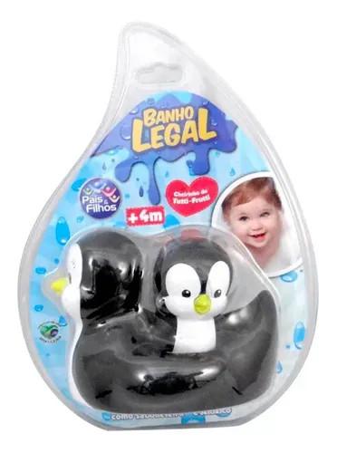 Brinquedo para o banho do Bebê Família Pinguim.