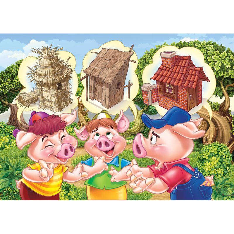 Quebra Cabeça Progressivo  Monte & Conte - Os Três Porquinhos