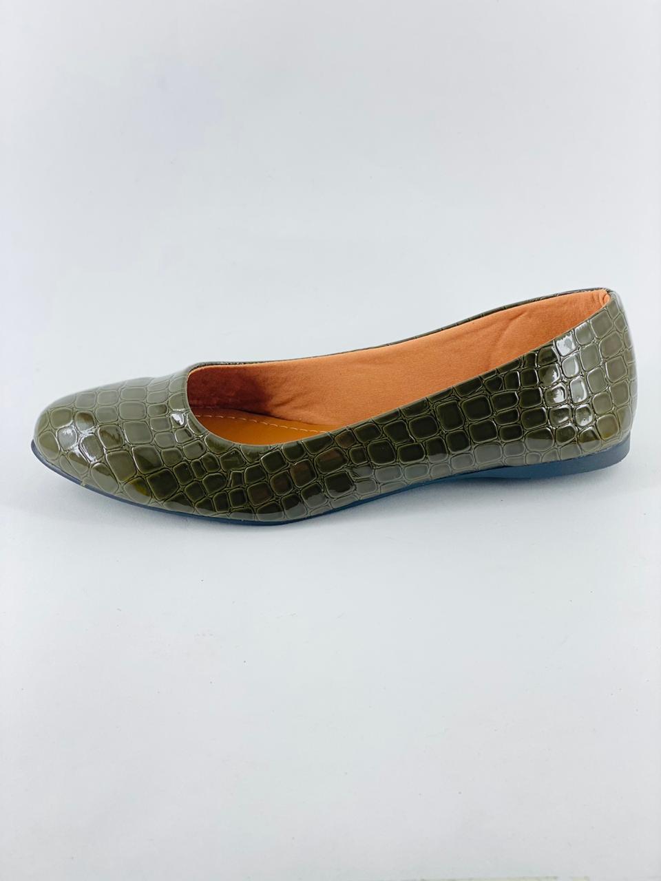 Sapatilha Verde Musgo/Croco