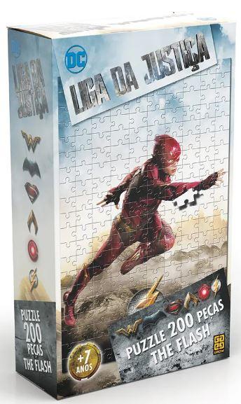 Quebra Cabeca Puzzle Flash Liga Da Justica 200 Pecas Grow