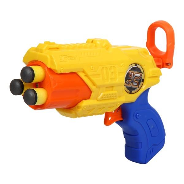 brinquedo X-Shot Mini lança dardos 3 tiros