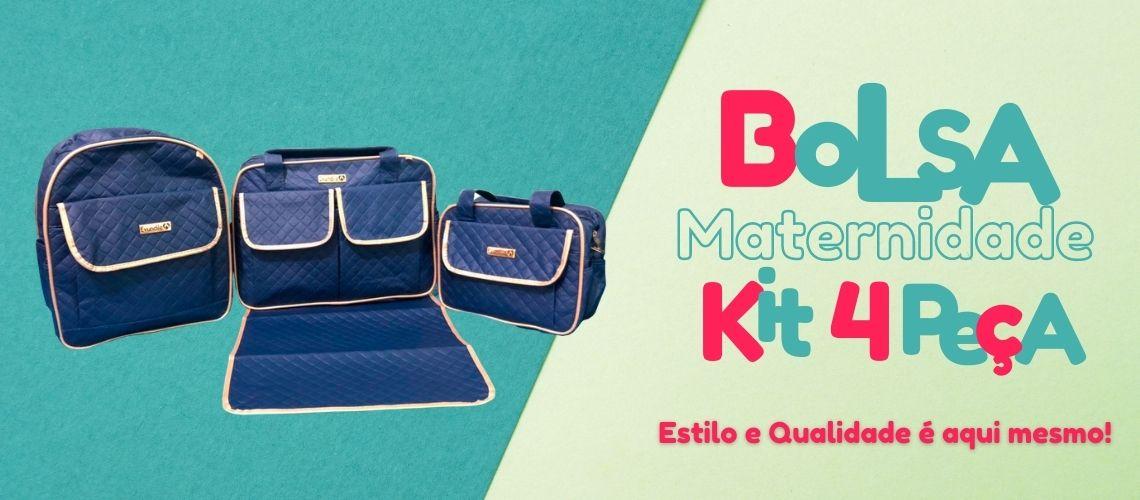 bolsa maternidade kit 3 peças + trocador