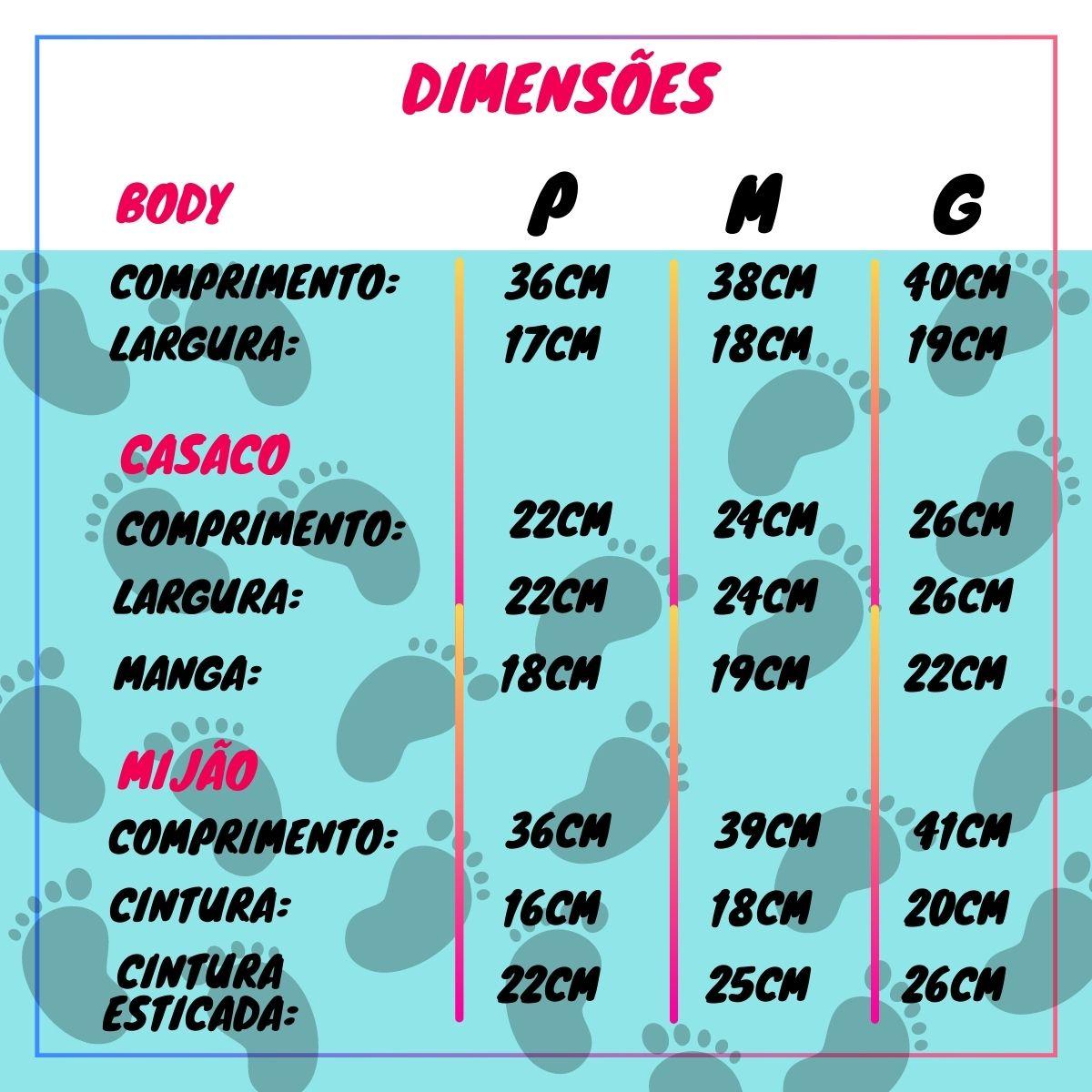 Conjuntinho Kit 3 Peças Puro Carinho - Body, Mijão e Casaco