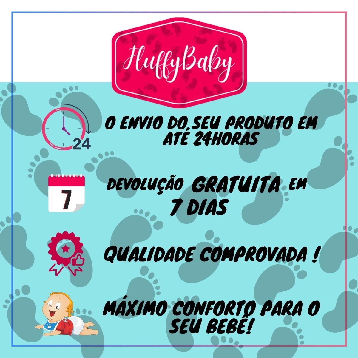 Conjuntinho Roupa de Bebê 3 Peças Fluffy Balão - Macacão, Body e Mijão