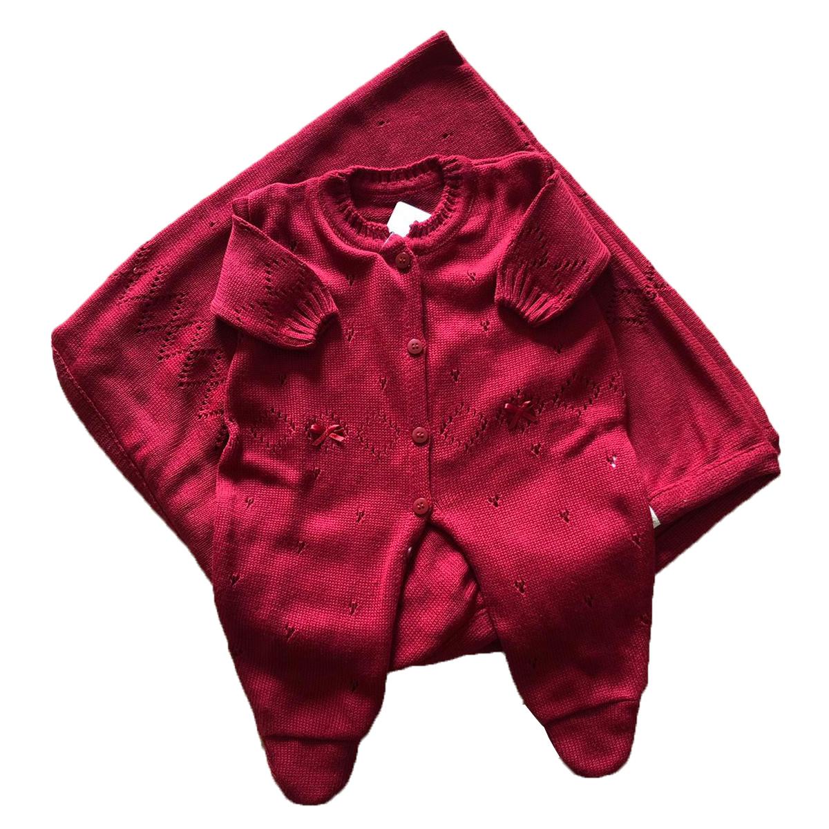 Saída Maternidade Tricô Fluffy Delicado