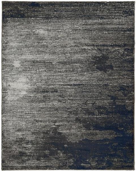 Tapete Sloane Bege, Marrom e Azul escuro