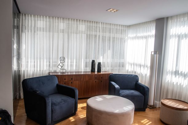 Tecido para cortina - Voil Cinza - Preço por rolo (cada rolo tem 50 metros por altura de 3.0 metros)