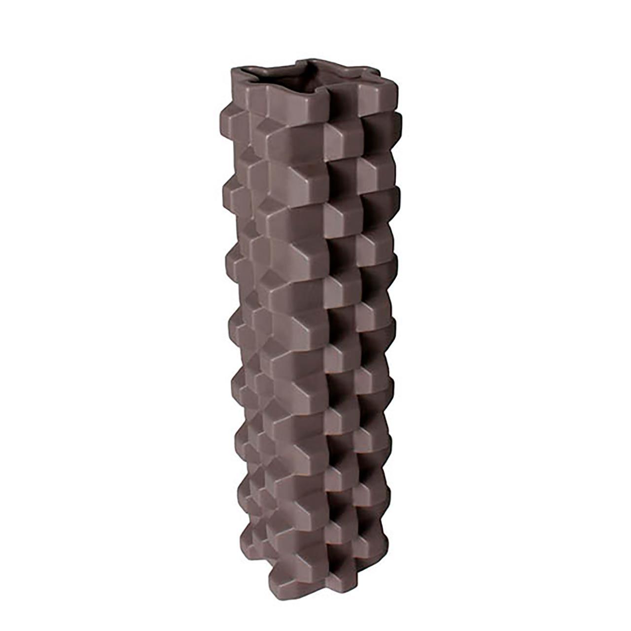 Vaso Archway 3D Cinza 31Cm