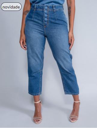 Calça Jeans  Mom  Revanche Linnet