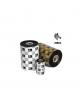 Ribbon de Cera Zebra 110mm x 450m - Tubete 1