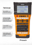 Rotulador eletrônico Portátil Brother - PTE500VP