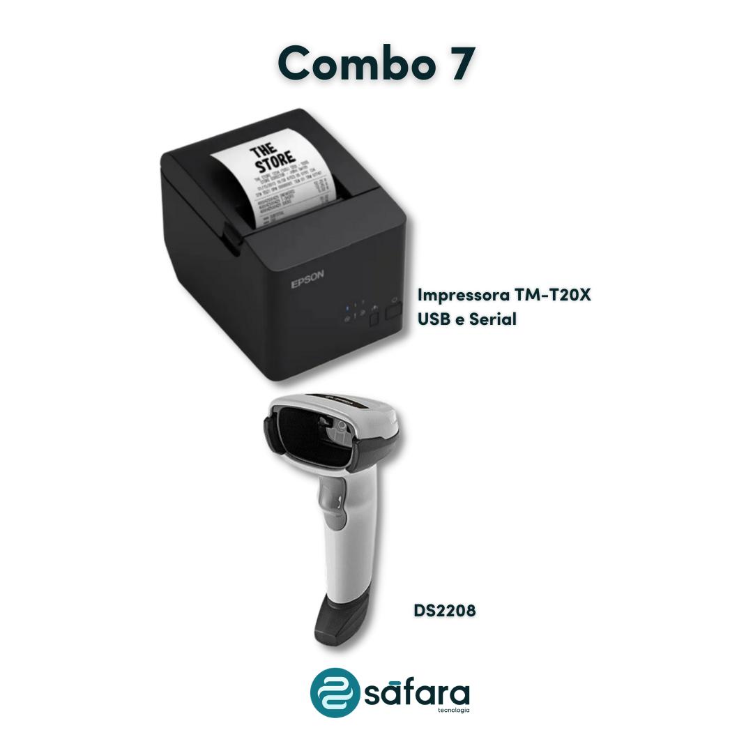 Kit Impressora de Cupom + Leitor 2D (Epson e Zebra)
