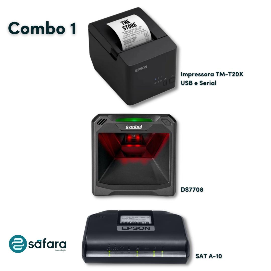 Kit SAT + Impressora + Leitor Fixo (Epson e Zebra)